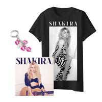 """el CD """"Shakira"""" con una Camiseta y un Llavero*"""