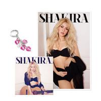 """el CD """"Shakira"""" con una Litografía y un Llavero"""