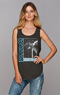 Soundgarden shirttail hem tank top