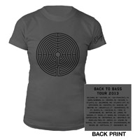 Women's Grey Labyrinth Tour 2013 Tee