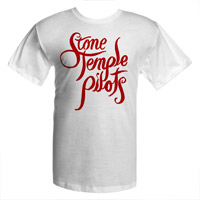 New - Stone Temple Pilots Script Logo Tee