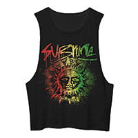 Red Gold Green Sun Tank