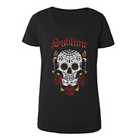 Skull Scoop Neck Ladies Tee