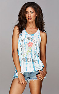 Sublime twist-back tank top