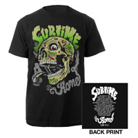 Sublime with Rome Smoking Skull Tour 2013 Shirt