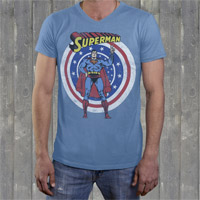 "Superman ""Super Peace"" Mens Crew V-Neck"