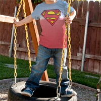 "Superman ""Super Shield"" Kids Crew Shirt"