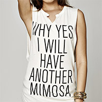 Another Mimosa Slit Neck Muscle Tee