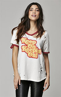 "Trunk Ltd ""KEEP ON KEEPIN' ON"" Ringer Tee"