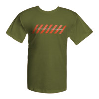 Olive Green Chevrons Logo T-shirt