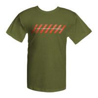 Olive Green Chevrons Logo T-shirt