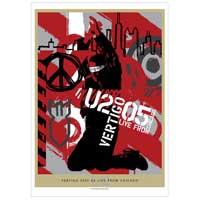 'Vertigo 05/U2 Live From Chicago' DVD Lithograph