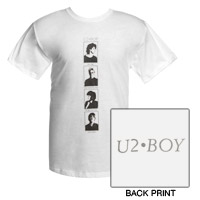 'BOY' Album Portraits T-Shirt  (White)