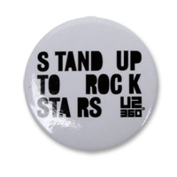 Stand Up To Rock Stars Button
