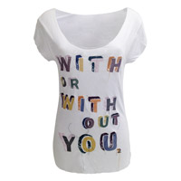 'With Or Without You' Embellished T-Shirt