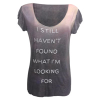 'Still Haven't Found' Dip Dye Embellished T-Shirt