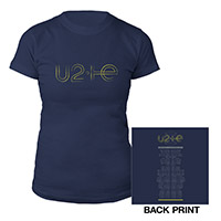 U2ie Tour Logo Women's T-Shirt Navy