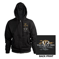 The Joshua Tree Tour 2017 Unisex Full Zip Hooded Sweatshirt