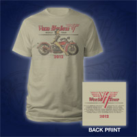 2012 Motorcycle Pin Up World Tour T-Shirt
