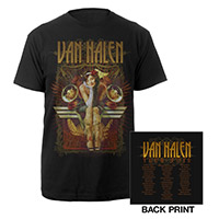 Van Halen 2012 Tattoo World Tour T-Shirt