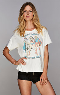 DC Super Heroines Short Sleeve Boxy Tee