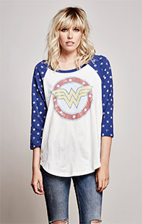 Wonder Woman 3/4 Sleeve Raglan