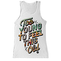 White Too Young Tunic Vest