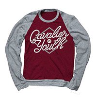 Cavalier Youth Raglan Maroon/Grey Crew Sweatshirt
