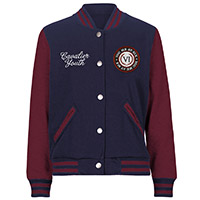 Laurel Leaf Navy/Maroon Varsity Jacket