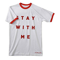 Stay With Me Red/White Ringer T-shirt