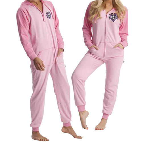 Abbey Dawn Blush Unisex Heavy Jersey Hooded Onesie