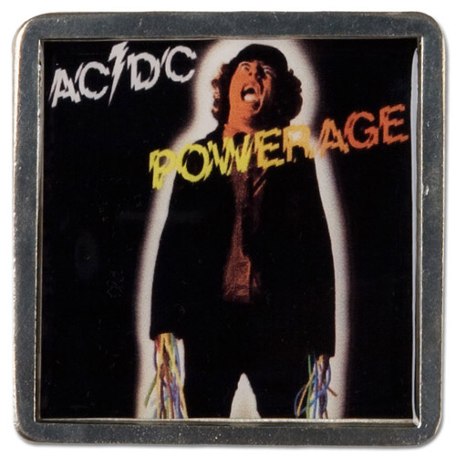 AC/DC Powerage Pewter Belt Buckle