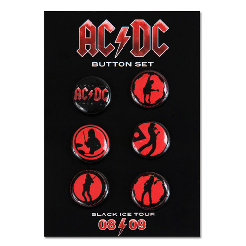 AC/DC Black Ice 6-Button Set