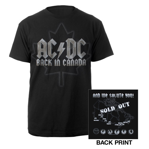 AC/DC Black Ice '09 Canada Summer Tour T-Shirt