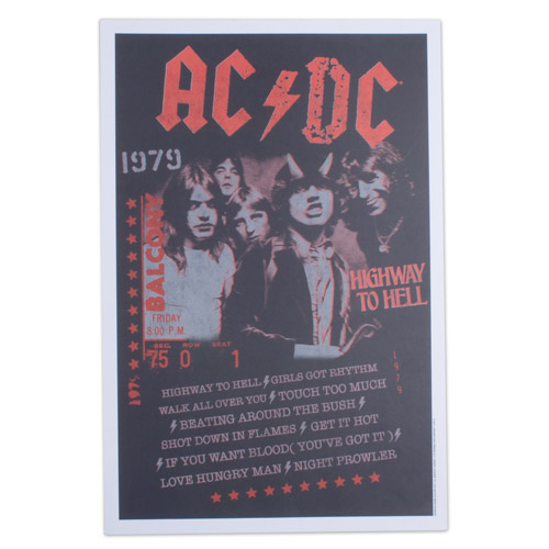 "AC/DC Highway to Hell 12"" x 18"" Poster"