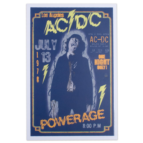 AC/DC Powerage 12&quot; x 18&quot; Poster