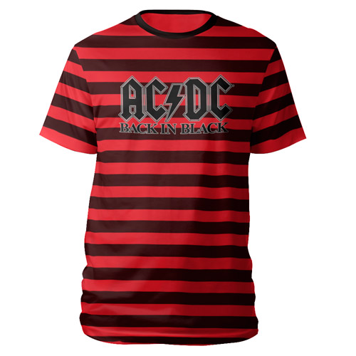AC/DC Back in Black Striped T-Shirt