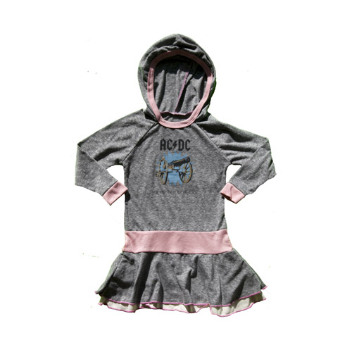 For Those About to Rock Hooded Girls Dress
