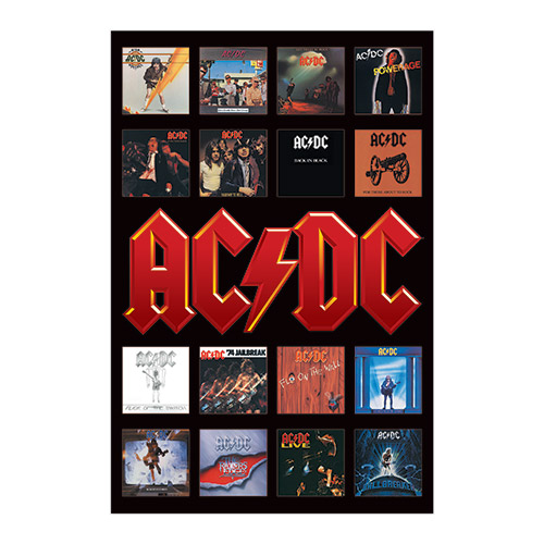 AC/DC Album Covers Poster