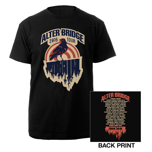 Alter Bridge Crow 2016 Tour Tee