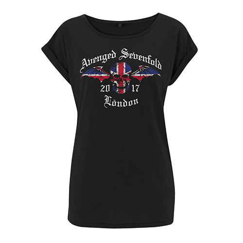 Union Jack Black Ladies T-shirt