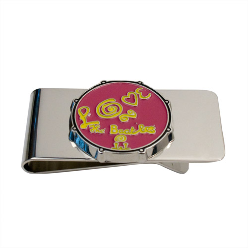 Love Drum Money Clip Pink