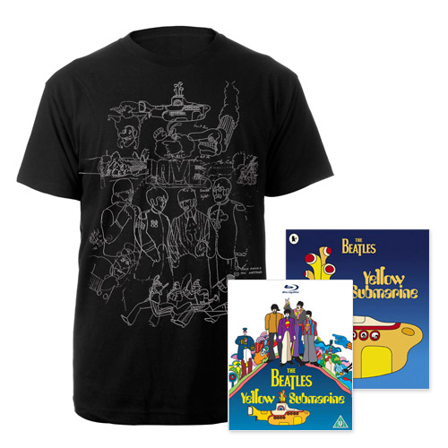 Blu-ray, Mens Black Sketches Exclusive T-Shirt & Midi Book.