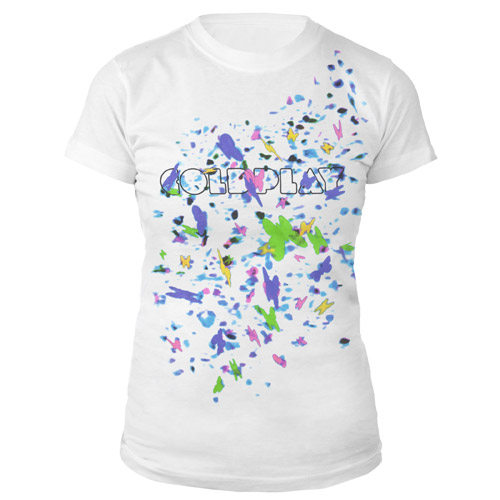 Coldplay Mylo Xyloto Butterfly Confetti Women's Tee
