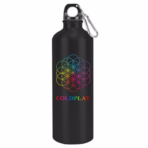 Coldplay Flower Of Life Water Bottle