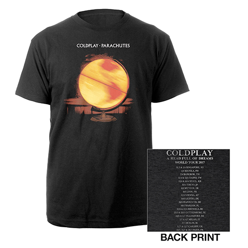 Coldplay Parachutes Europe 2017 Tour Vintage T-shirt