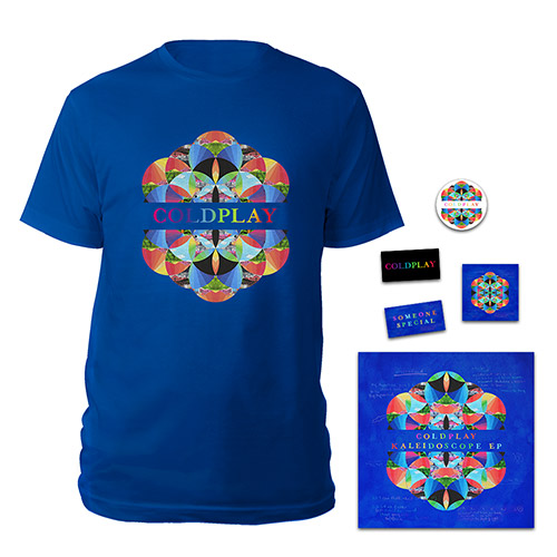 Coldplay Kaleidoscope EP CD & T-shirt