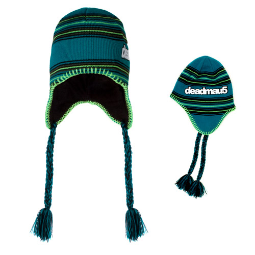 deadmau5 Ear Flap Striped Beanie