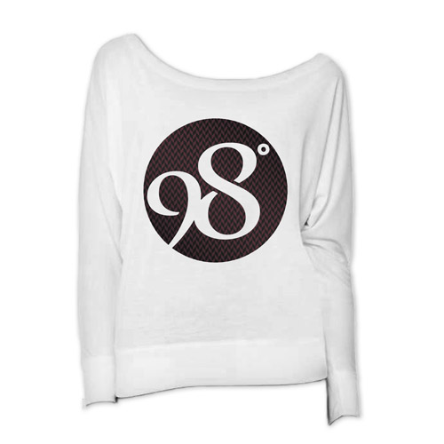 Weave Logo Ladies Long Sleeve Scoop Neck