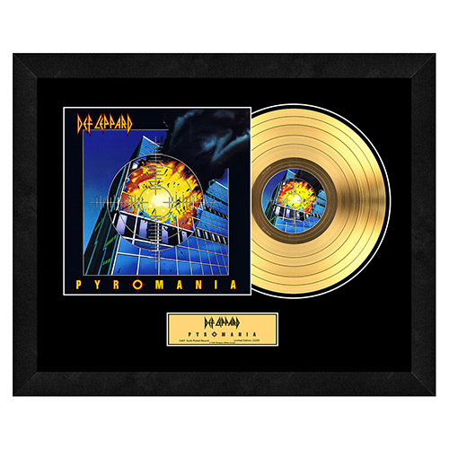 Pyromania Collectible Framed Gold LP